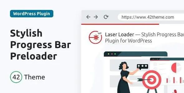 Laser Loader — Stylish Progress Bar Preloader