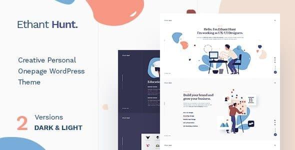Ethant Hunt – Personal Onepage WordPress Theme
