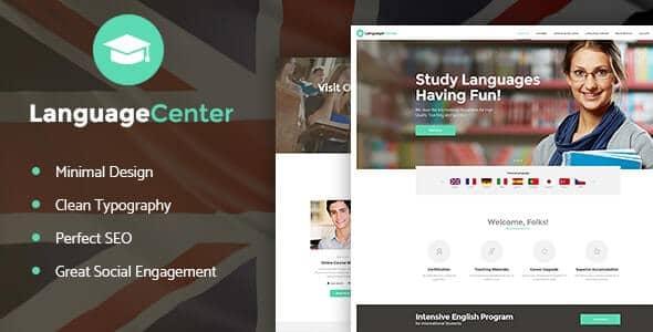 Language Center & Online School Education WordPress Theme