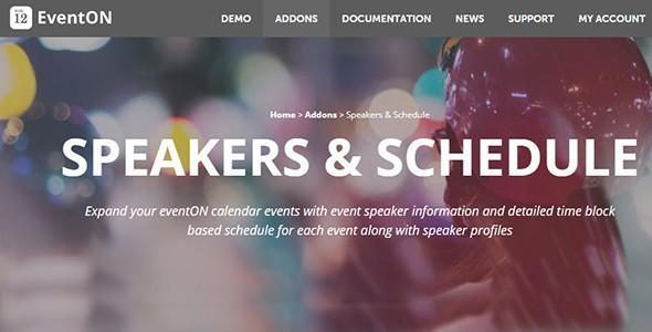 EventON - Speakers & Schedule
