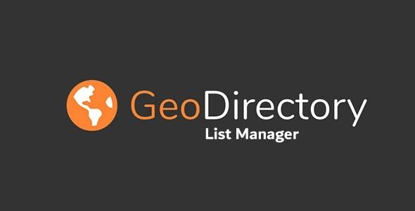 GeoDirectory List Manager