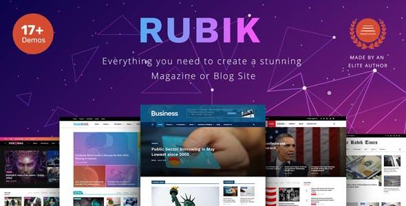 Rubik – A Perfect Theme for Blog Magazine Website