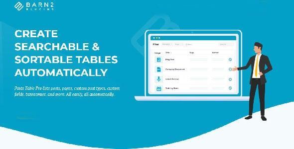 Barn2 Media - Posts Table Pro