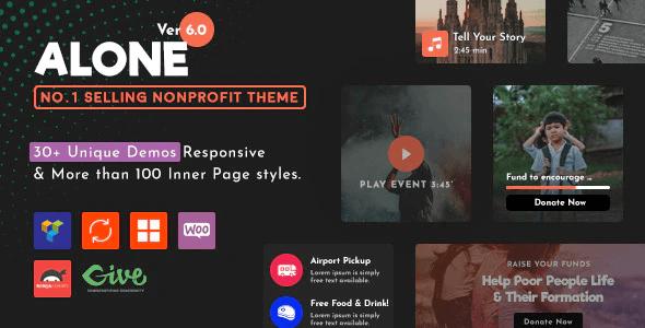 Alone – Charity Multipurpose Non-profit WordPress Theme