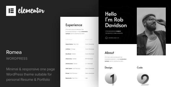 Romea - Personal Portfolio WordPress Theme
