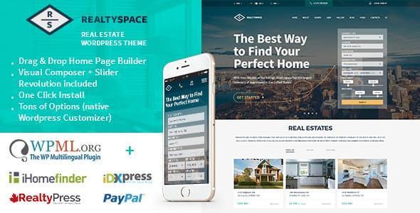 Realtyspace - Real Estate WordPress Theme
