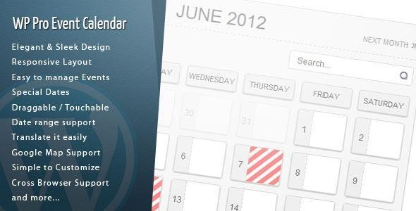 WordPress Pro Event Calendar