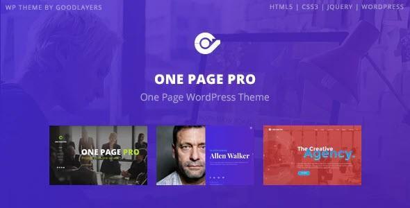 One Page Pro - Multipurpose WordPress