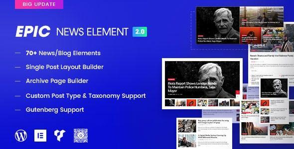 Epic News Elements - News Magazine Blog Element