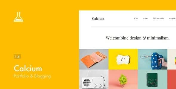 Calcium – Minimalist Portfolio & Blogging Theme
