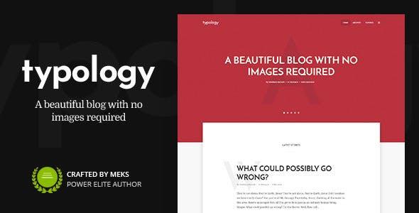 Typology - Minimalist WordPress Blog & Text Based Theme