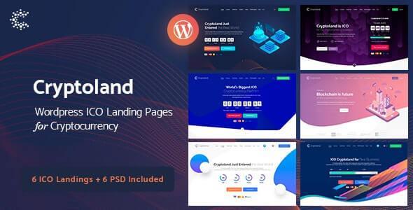 Cryptoland – ICO Landing Pages WordPress Theme