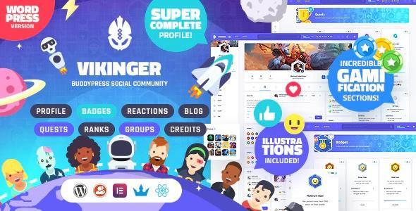 Vikinger - BuddyPress and GamiPress Social Community