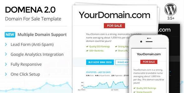 Domena 2.0 - Domain For Sale Template