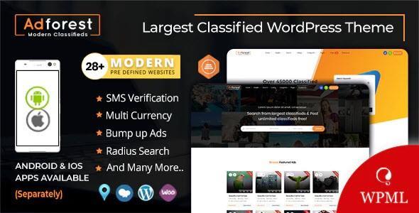 AdForest - Classified Ads WordPress Theme