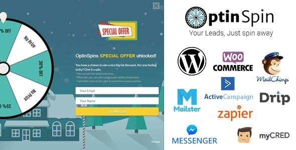 OptinSpin – Fortune Wheel Integrated With WordPress, WooCommerce And Easy Digital Downloads Coupons