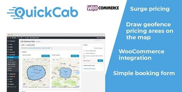 QuickCab - WooCommerce Taxi Booking Plugin
