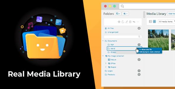 WordPress Real Media Library – Media Categories / Folders File Manager