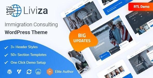 Liviza - Immigration Consulting WordPress Theme