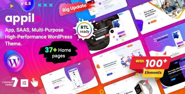 Appilo – App Landing Page WordPress Theme